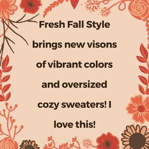 Loving Fresh Fall Vibrant Style!